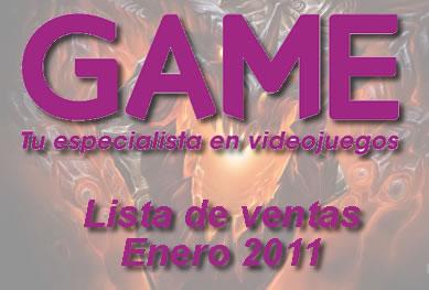 Ventas GAME Enero 2011