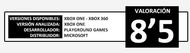Valoracion Forza Horizon 2