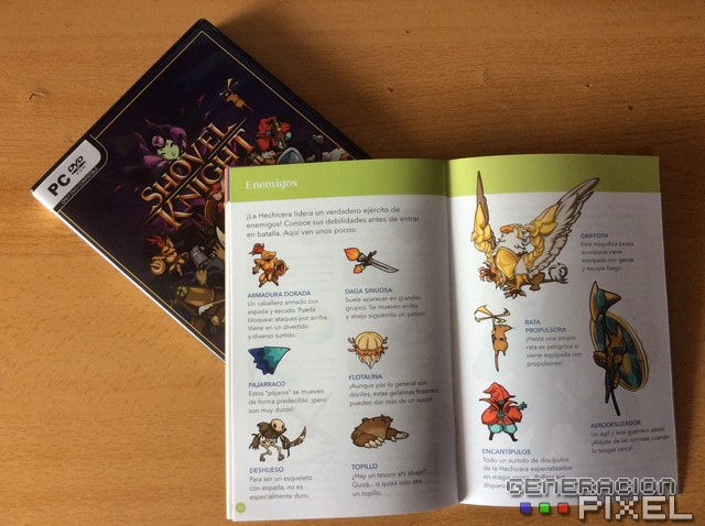 Shovel Knight tiene este sorprendente manual en su interior